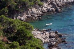 Blue Lagoon. On Adriatic coast Stock Photos