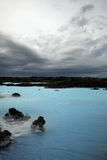 Blue Lagoon. Iceland on a grey day Stock Photo