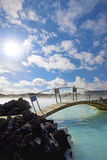 The Blue Lagoon. On a sunny day in Iceland Stock Photo