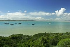 Blue lagoon. Lagoon in Langebaan, South Africa Royalty Free Stock Photography