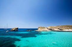 Blue Lagoon. In Malta on the island of Comino Royalty Free Stock Photos