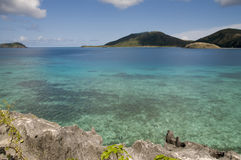 The Blue Lagoon. WS the beautiful famous Blue Lagoon in the Yasawa Islands of Fiji Royalty Free Stock Image