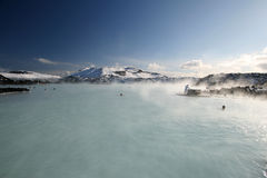 Blue Lagoon. The famous Blue Lagoon natural hot spring in Iceland royalty free stock photography