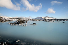 Blue Lagoon. The famous Blue Lagoon natural hot spring in Iceland Royalty Free Stock Photos