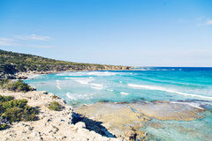Blue lagoon Akamas in Cyprus. A view of a Blue Lagoon near Polis city, Akamas Peninsula National Park, Cyprus Stock Photography