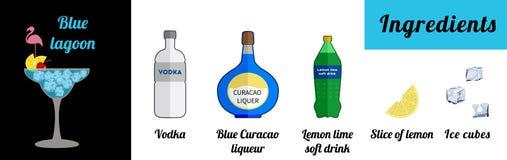 Blue lagoon stock illustration