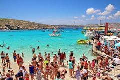 Free Blue Lagoon At Comino Island, Malta. Royalty Free Stock Image - 150333336