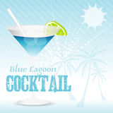 Blue lagoon Background Royalty Free Stock Photography