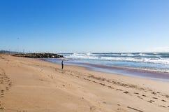 Blue Lagoon Beach Coastal Landscape in Durban Royalty Free Stock Photo