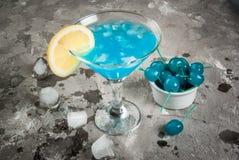 Blue lagoon or blue curacao Stock Photography