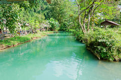 Blue lagoon in Vang Vieng. Laos. Stock Photography
