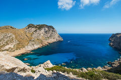 Blue lagoon in the coast of Mallorca Stock Image