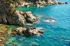 Blue lagoon at the coast of Mallorca Stock Photography