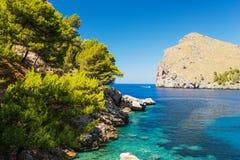 Blue lagoon at coast of Mallorca Royalty Free Stock Photo
