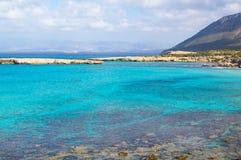 Blue lagoon coast. View of Blue lagoon coast at Akamas peninsula, Cyprus royalty free stock photos