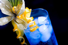 Blue lagoon cocktail Royalty Free Stock Image