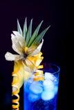 Blue lagoon cocktail Stock Photos