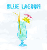Blue Lagoon cocktail Royalty Free Stock Photography