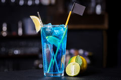 The Blue Lagoon Cocktail Stock Images