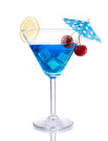 Blue lagoon cocktail Stock Photography