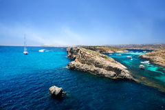 Blue Lagoon, Comino Royalty Free Stock Photos