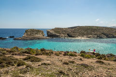 The Blue Lagoon in Comino Island - Gozo, Malta Stock Photos