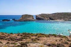 The Blue Lagoon in Comino Island - Gozo, Malta Stock Image