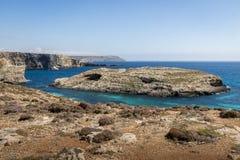 The Blue Lagoon in Comino Island - Gozo, Malta Royalty Free Stock Photo