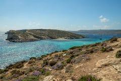 The Blue Lagoon in Comino Island - Gozo, Malta Royalty Free Stock Image