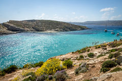 The Blue Lagoon in Comino Island - Gozo, Malta. The Blue Lagoon in Comino Island in Gozo, Malta Stock Image