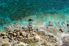Blue lagoon comino island gozo. Wonderful place like in dream in blue lagoon malta island and gozo Stock Image
