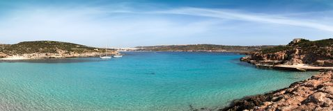 The Blue Lagoon on Comino Island, Malta Royalty Free Stock Images