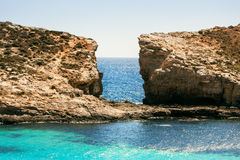 Blue lagoon Comino Royalty Free Stock Photo