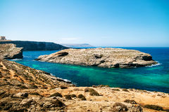 Blue lagoon Comino Royalty Free Stock Photography