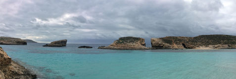 Blue lagoon Comino Stock Photo
