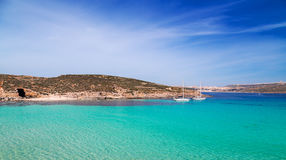 The Blue Lagoon on Comino Island, Malta Gozo Stock Photo