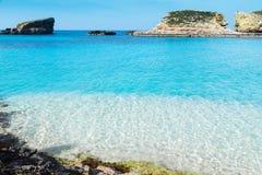 The Blue Lagoon on Comino Island, Malta Gozov Stock Image
