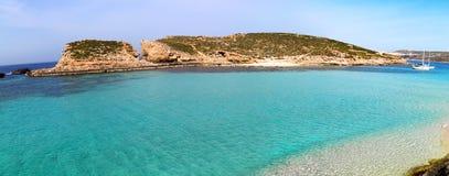 The Blue Lagoon on Comino Island, Malta Gozov Stock Photos