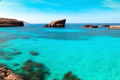The Blue Lagoon on Comino Island, Malta Gozov Stock Images