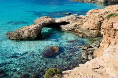 Blue lagoon comino island. Paradise bay n Royalty Free Stock Images