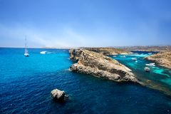 Blue Lagoon, Comino Royalty Free Stock Images