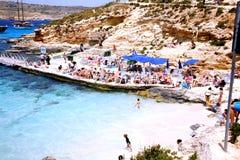 The Blue Lagoon, Comino, Malta. Stock Images