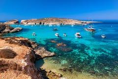 Blue lagoon at Comino - Malta. Blue lagoon at Comino island - Malta royalty free stock photo