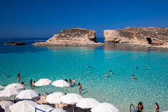 Blue lagoon at Comino - Malta Stock Photos