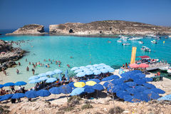 Blue lagoon at Comino - Malta Royalty Free Stock Photo