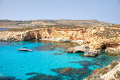 BLUE LAGOON, COMINO  MALTA Stock Photos