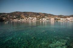 Blue lagoon on Crete, Greece. Blue lagoon on Crete with boats, Greece Royalty Free Stock Photos