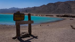 Blue lagoon dahab. Picture of blue lagoon Dahab, Egypt Royalty Free Stock Photo