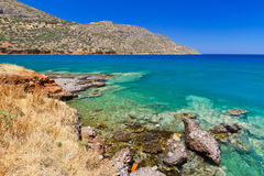 Blue lagoon of Elounda Bay on Crete Stock Photo