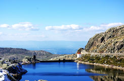 Blue lagoon of Estrela montain Royalty Free Stock Images
